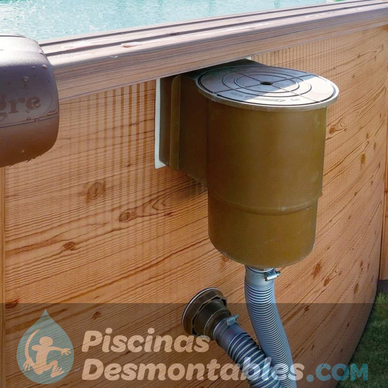 Piscina de composite gre 804x386x124 kpcov80 for Piscina composite