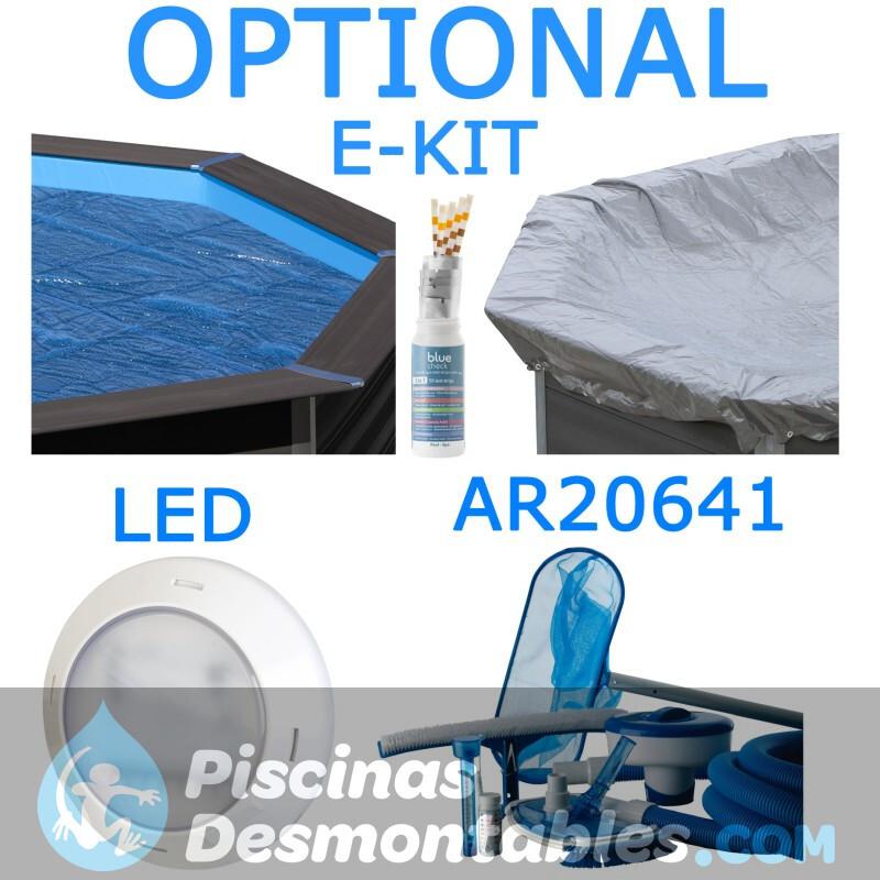 Escalera Inoxidable para piscina de madera Gre 126673