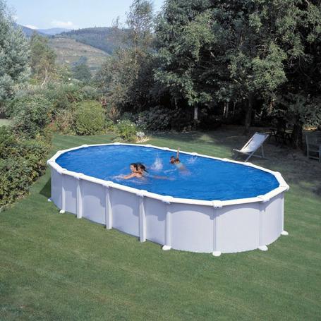460 x 120 cm Piscina Elevada Redonda Gre KIT460W Pacific Aspecto Madera