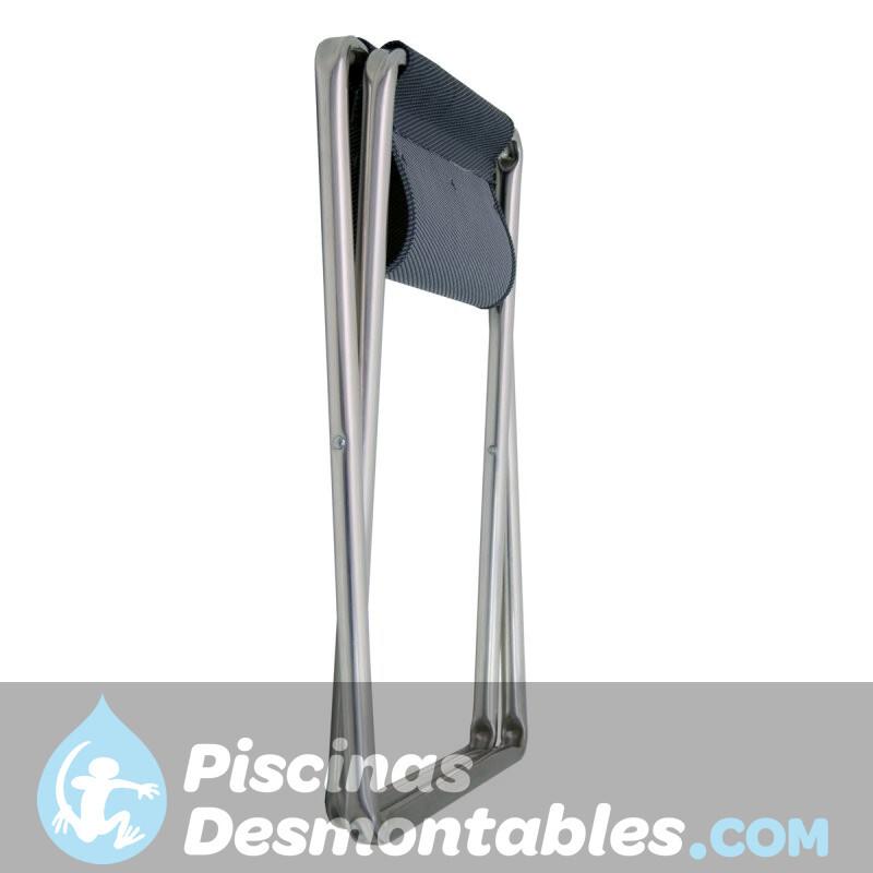 Cama con reposabrazos y respaldo 7 posiciones de aluminio