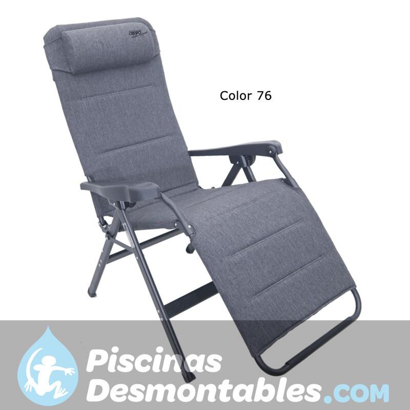 Sillón air deluxe aluminio con 7 posiciones compact y asiento largo