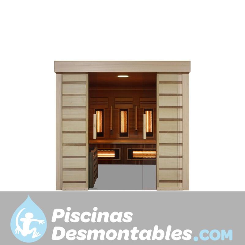 Sauna infrarrojos Oslo para 3 personas Kokido KJ20003F
