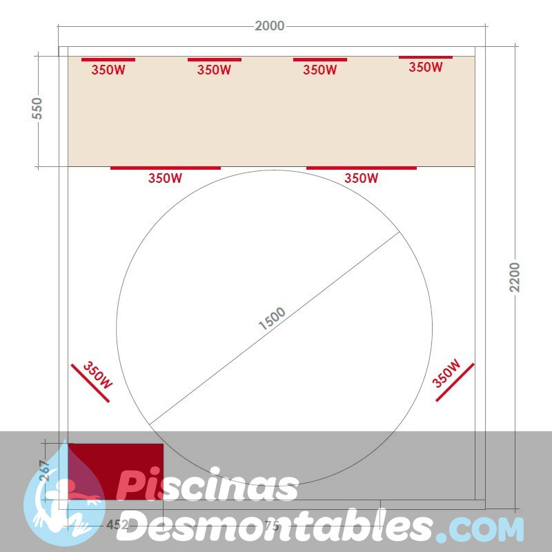 Piscina Kokido Premium Madera 375x127 PJ001SF