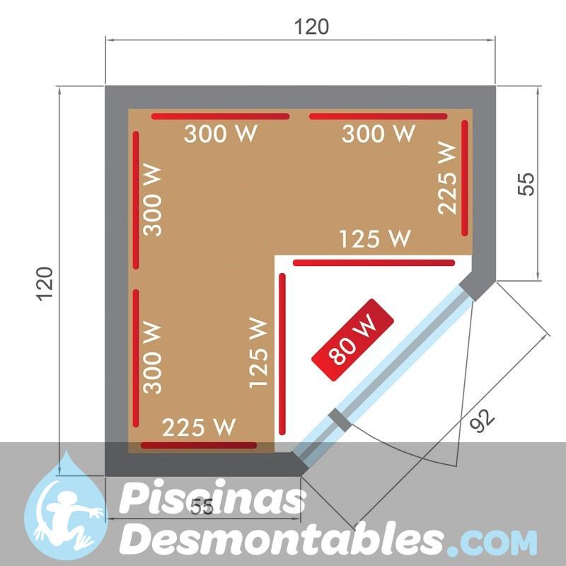 Piscina Kokido Premium Madera 440x130 PM001SF