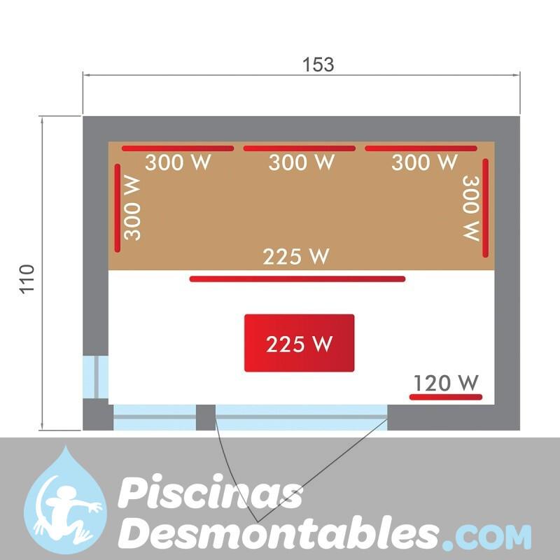 Piscina Kokido Premium Madera 488x317x128 PM003CS