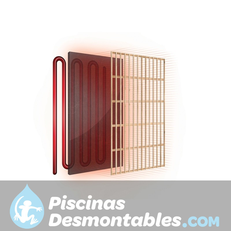 Sauna Inflarrojos Pino 104x88x184 HEMLOCK
