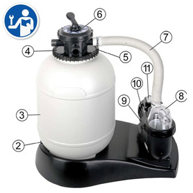 Piscina Intex Metal Frame 457x91 cm Set Completo 54942