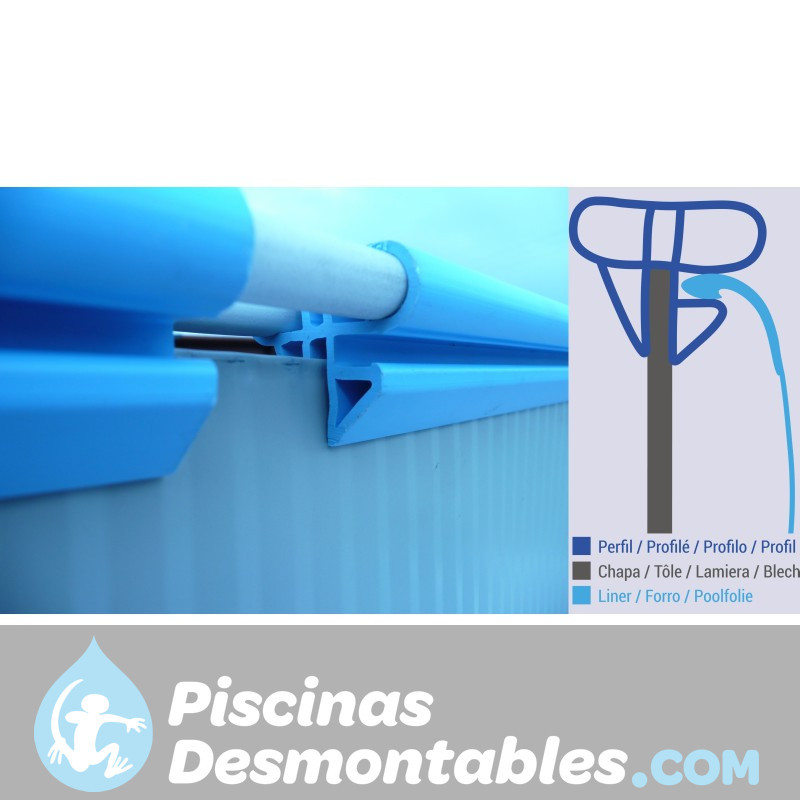 Piscina StarPool Imitación Madera 350x120 P350W