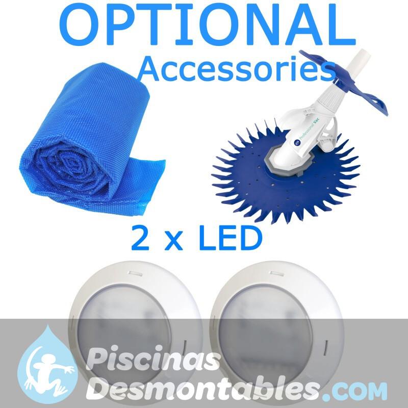 Piscina StarPool Blanca 610x375x132 PROV618