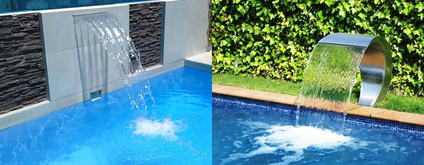 Cascadas para piscinas for Piscina bebe con parasol