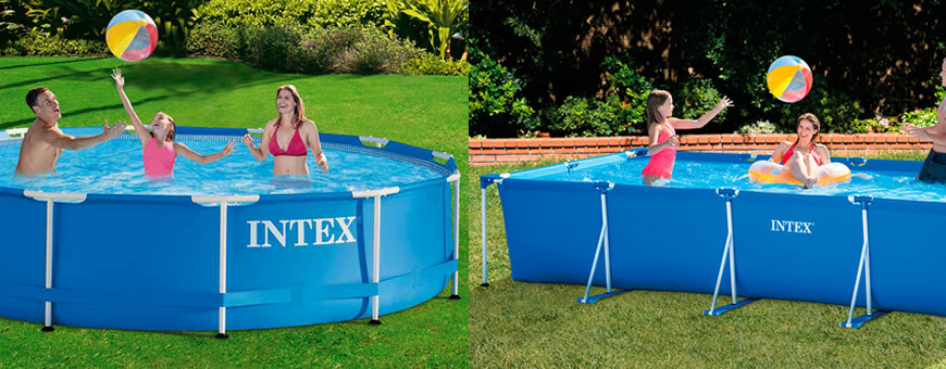Piscinas intex metal frame for Piscinas desmontables baratas intex