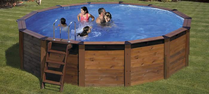 Piscinas de madera for Estructura para piscina